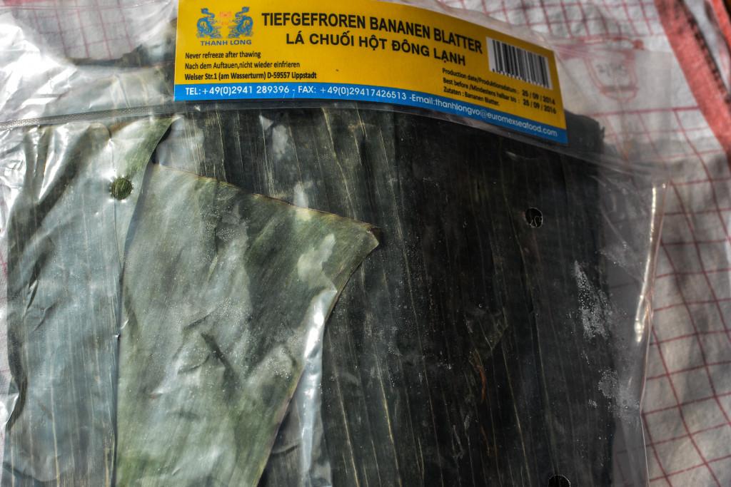 Bananenblätter tiefgefroren